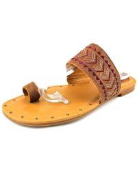 Ariat - Copper Creek Open Toe Leather Slides Sandal - Lyst