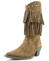 Roper - Short Stuff Pointed Toe Suede Mid Calf Boot - Lyst
