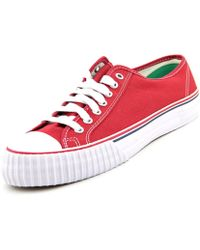 PF Flyers - Center Lo Reissue Women Round Toe Canvas Red Sneakers - Lyst