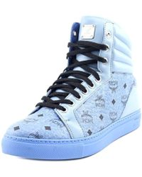 MCM - Carryover High Men Leather Fashion Trainers - Lyst