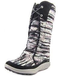 Merrell - Pechora Sky Women Round Toe Canvas Black Winter Boot - Lyst