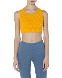 Pima Doll - Pima Knit Ball Stitch Bralette - Lyst