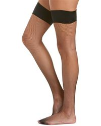 189dbdbed6 Lyst - Wolford Day   Night 10 Stay Up Thigh High Tights in Natural