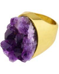 Saachi - Amethyst Ring - Lyst
