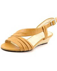David Tate - Caress W Open-toe Leather Slingback Sandal - Lyst