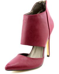 Michael Antonio - Lamonte Women Pointed Toe Synthetic Burgundy Ankle Boot - Lyst