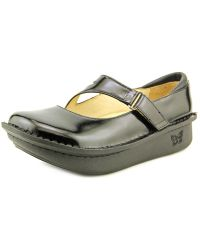 Alegria - Dayna Women Round Toe Leather Black Mary Janes - Lyst