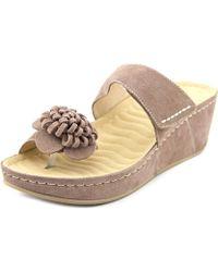 David Tate - Jolly N/s Open Toe Synthetic Platform Sandal - Lyst