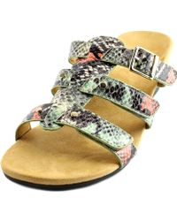 Vionic - Park Radia Open Toe Synthetic Wedge Sandal - Lyst