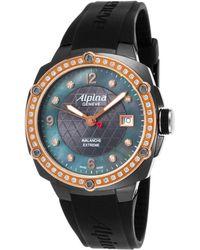 Alpina - Women's Avalanche Extreme Diamond Blk Rubber & Mop Dial Rose-tone Bzl - Lyst