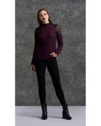 Komarov - Sheer Shoulder Sweater - Lyst
