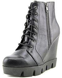 MIA - Kendal Women Open Toe Synthetic Black Wedge Heel - Lyst