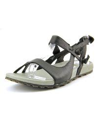 Patagonia - Poli Knotty Women Open-toe Leather Black Slingback Sandal - Lyst
