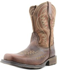 Ariat - Rambler Square Toe Leather Western Boot - Lyst
