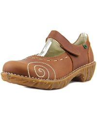 El Naturalista - N095 Women Round Toe Leather Brown Mary Janes - Lyst
