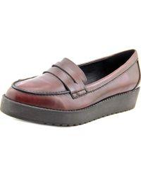 Madden Girl - Empirree Women Round Toe Leather Burgundy Loafer - Lyst