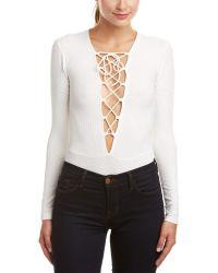 Cotton Candy - Lace-up Bodysuit - Lyst