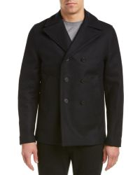 Zadig & Voltaire - Mastic Vested Wool-blend Peacoat - Lyst