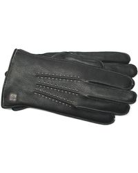 Joseph Abboud - Melange Fleece Lined Deerskin Gloves - Lyst