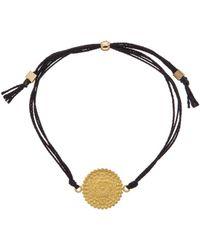 Dogeared - Mandala Collection Gratitude 14k Over Silver Adjustable Bracelet - Lyst