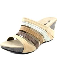 Romika - Mallorca 03 Open Toe Leather Wedge Sandal - Lyst
