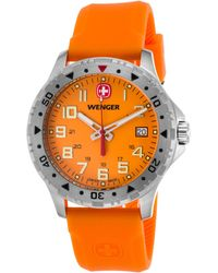 Wenger - Men's Off Road Orange Silicone And Dial Stainless Steel - Lyst