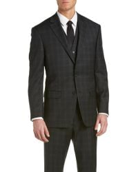 Austin Reed | Wool 3pc Vested Suit With Flat Front Pant | Lyst