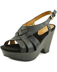 Chaps - Jaida Open Toe Synthetic Wedge Sandal - Lyst