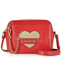 Love Moschino - Women's Red Faux Leather Clutch - Lyst