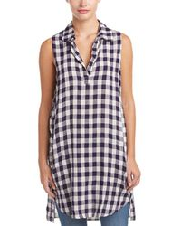 4our Dreamers - Gingham Linen-blend Blouse - Lyst
