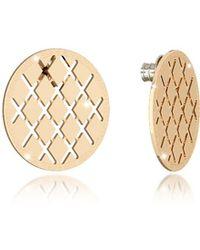 Rebecca - Women's Gold Metal Earrings - Lyst