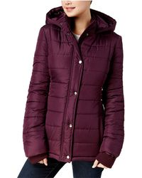 Rampage - Juniors Hooded Puffer Coat - Lyst