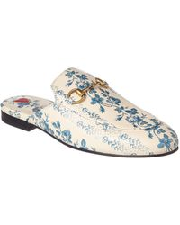 a1022eecd6d Gucci - Princetown Rose Stamp Leather Slipper - Lyst