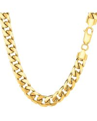 Jewelry Affairs - 14k Yellow Gold Miami Cuban Link Chain Necklace - Width 6.9mm - Lyst