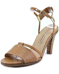 Veronique Branquinho - Vb18053 Open-toe Leather Slingback Sandal - Lyst