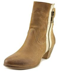 Accademia - G3 Boot Women Round Toe Leather Tan Mid Calf Boot - Lyst