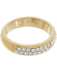 Nadri - 18k Plated Stack Ring - Lyst