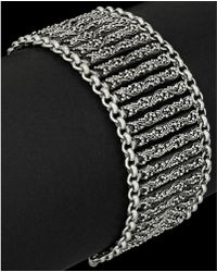 Lois Hill - Classic Silver Small Granulated Link Toggle Bracelet - Lyst