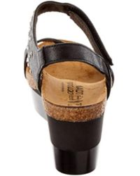 Naot - Prodigy Leather Wedge Sandal - Lyst