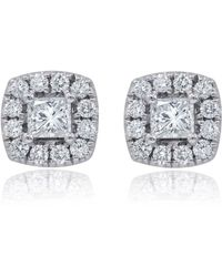 Diana M. Jewels - White Gold Stud Earrings With 1.40 Carats Of Total Diamond Weight - Lyst