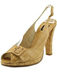 Biba - St.cocco Peep-toe Leather Heels - Lyst