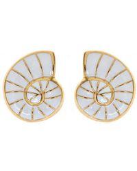 Fornash - Ocean 14k Plated Enamel Shell Earrings - Lyst