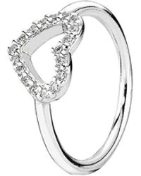 PANDORA - Be My Valentine Silver Cz Ring - Lyst