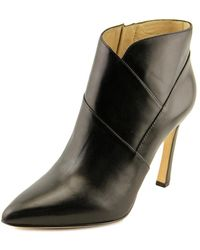 Carolinna Espinosa - Adolfo Women Pointed Toe Leather Black Bootie - Lyst
