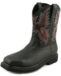 Ariat - Sierra Wide Square Toe Men Square Toe Leather Black Work Boot - Lyst