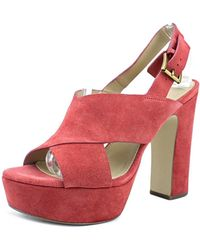 MICHAEL Michael Kors - Diva Platform Women Open Toe Synthetic Pink Platform Heel - Lyst