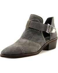 Imagine Vince Camuto - Raina Women Pointed Toe Suede Grey Bootie - Lyst