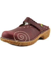El Naturalista - Ng96 Women Round Toe Leather Burgundy Mules - Lyst
