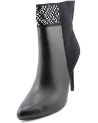 Adrianna Papell - Iris Women Pointed Toe Leather Black Bootie - Lyst