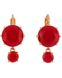 Les Nereides - La Diamantine 2 Vermilion Red Round Little Stones Earrings - Lyst